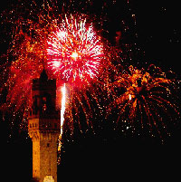 Fireworks shows in Florence