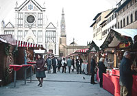 German Christmas' Market in Santa Croce, Florence